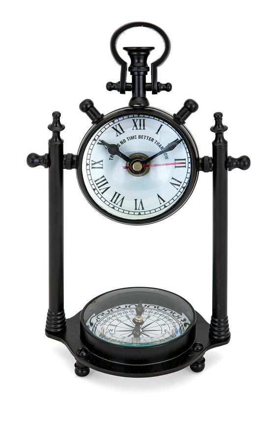 Compass Clock - Premier Home & Gifts