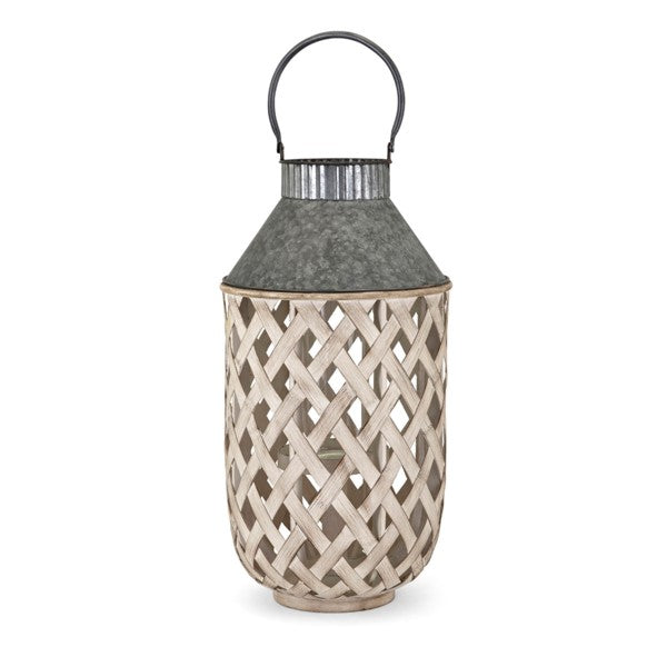 Galvanized Bamboo Lanterns - Home Decor