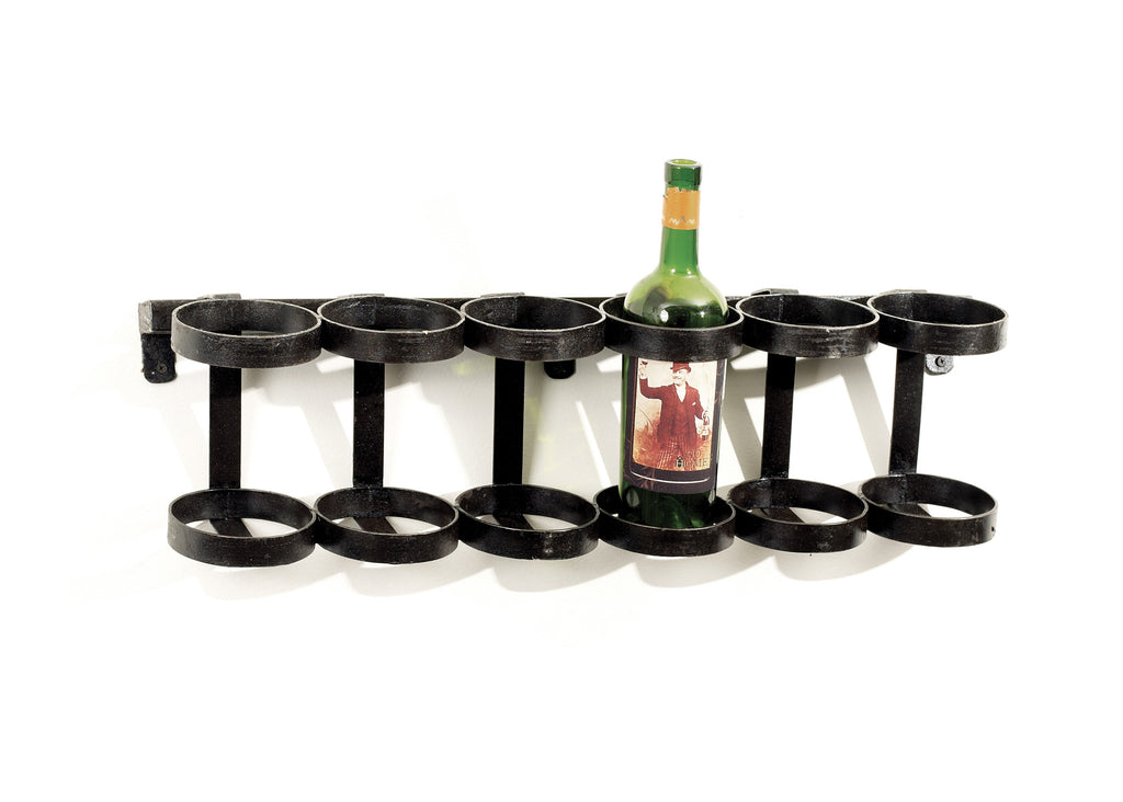 Rustic Iron Wine Rack