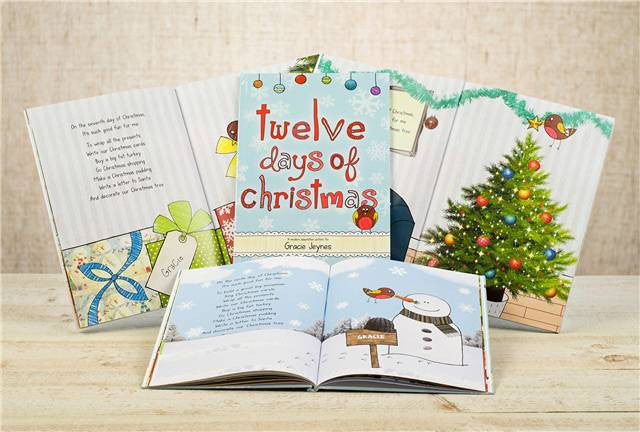 12 days of christmas book personalized with childs name - 12 Days Of Christmas Book