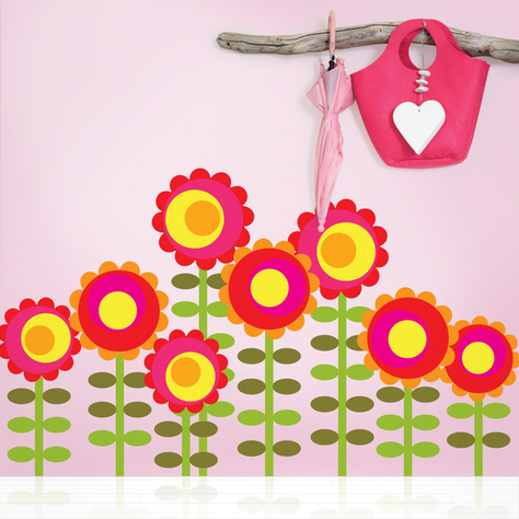 Happy Flower Wall Decals