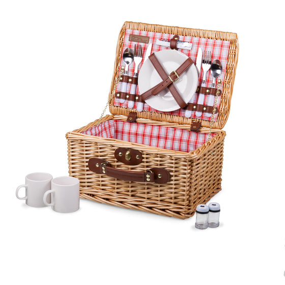 Catalina Picnic Basket - Red and White