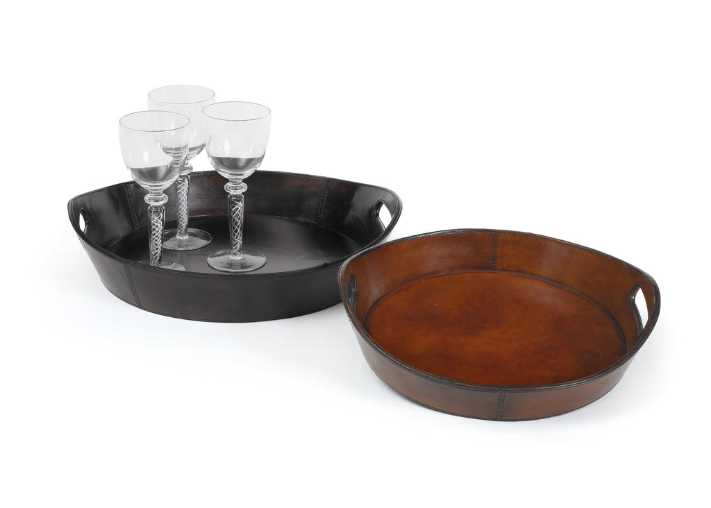Darien Leather Trays - Set of 2