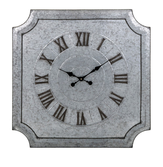Aleron Galvanized Wall Clock