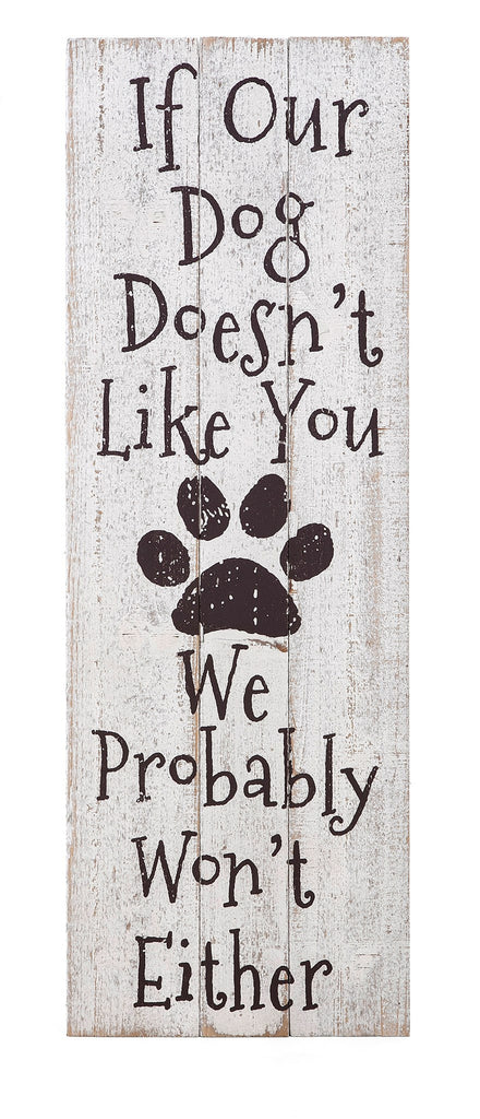 Dog Likes You Wall Decor - Pet Wood Wall Art Dog Decor