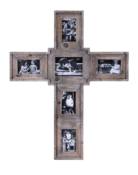 Cross Family Wall Picture Frame - Collage Picture Frame