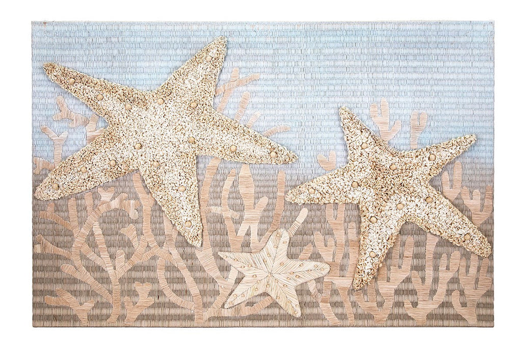 Starfish Textured Wall Decor - Ocean Coastal Inspired Wall Art