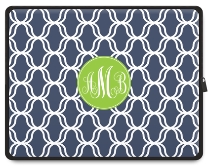 Lattice Monogram Tablet Case - Script