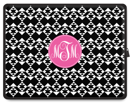Tribal Monogram Laptop Case - Script