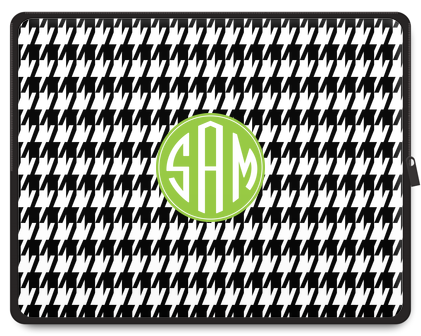 Houndstooth Monogram Laptop Case - Ark