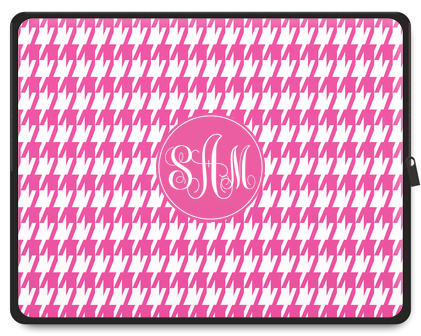 Houndstooth Monogram Tablet Case - Script
