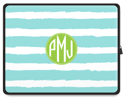 Painted Stripe Monogram Tablet Case - Ark