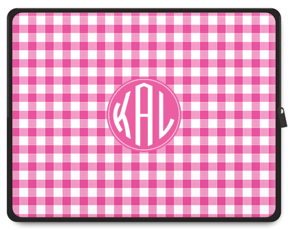 Gingham Monogram Tablet Case - Ark
