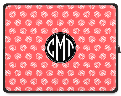 Striped Dots Monogram Laptop Case - Ark
