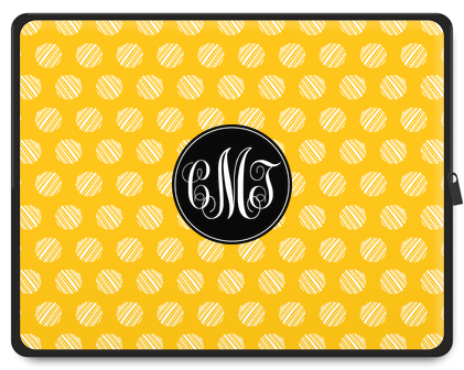 Striped Dots Monogram Tablet Case - Script