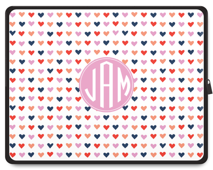 Organic Hearts Monogram Laptop Case - Ark