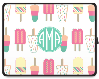 Popsicle Party Monogram Laptop Case - Ark