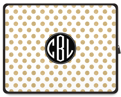 Glam Dots Monogram Tablet Case - Ark
