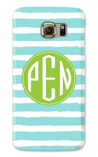Painted Stripe Galaxy S6 Case - Ark Font