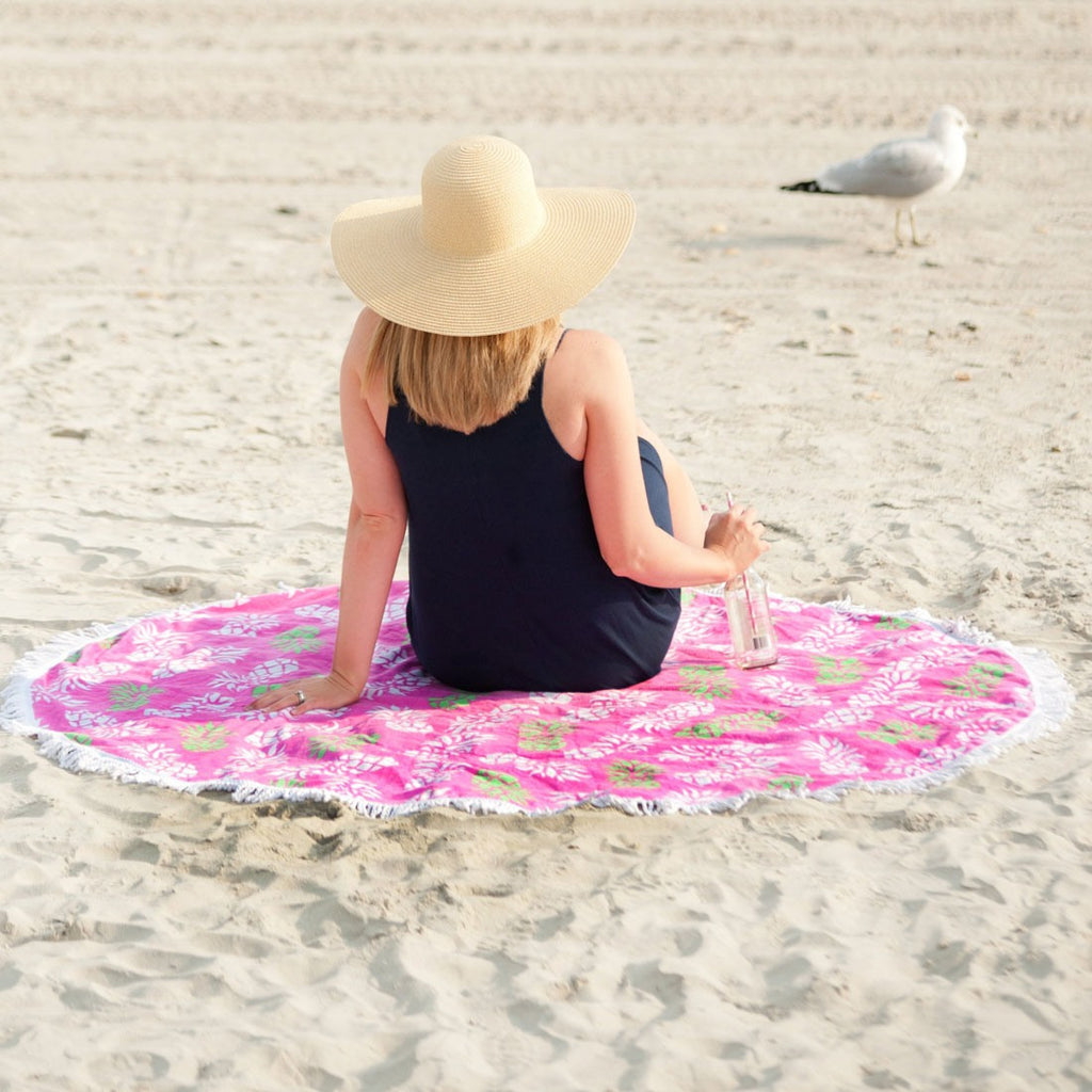 Pineapple Posh Round Beach Towel - Premier Home & Gifts