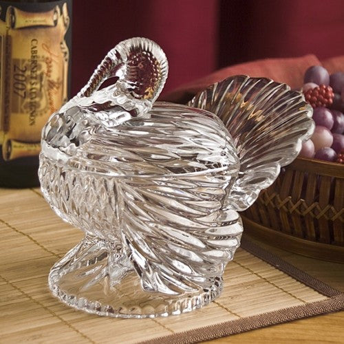 Turkey Lidded Crystal Dish - Premier Home & Gifts