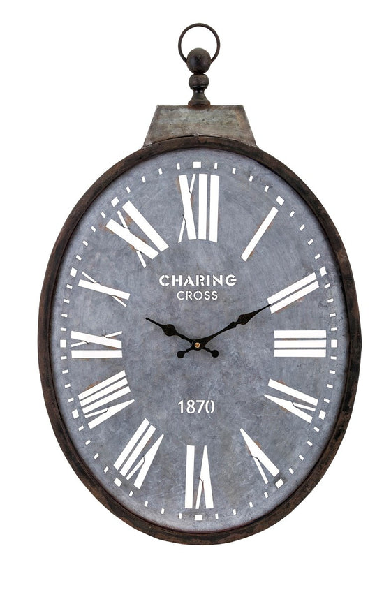 Charing Cross Galvanized Wall Clock - Premier Home & Gifts