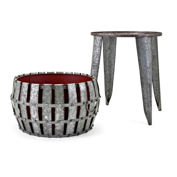 Galvanized Drink Tub on Stand - Entertaining Decor