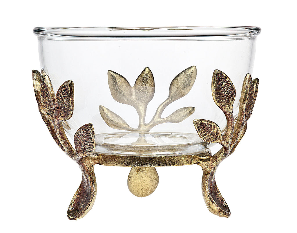 Laurel Glass Serving Bowl and Stand - Premier Home & Gifts