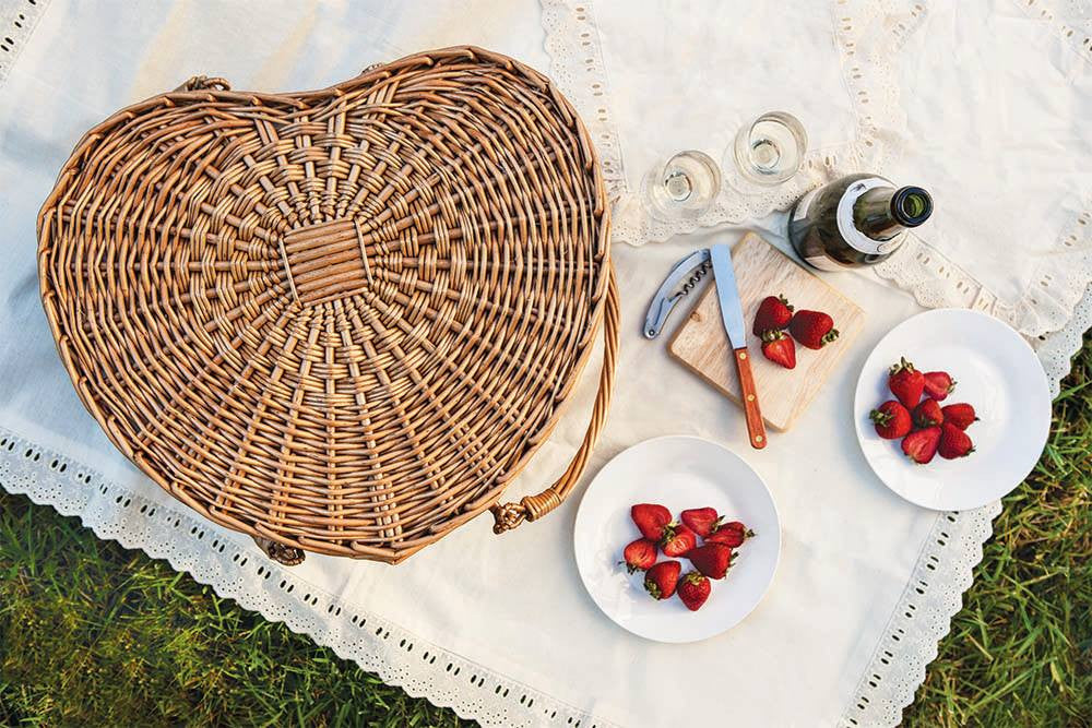 Heart Picnic Basket - Premier Home & Gifts