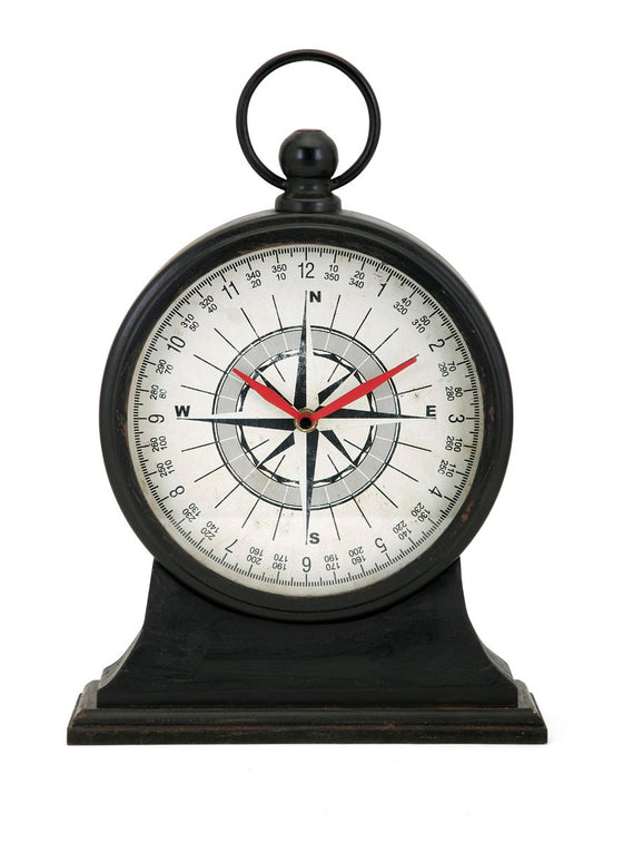 Maritime Compass Clock - Premier Home & Gifts