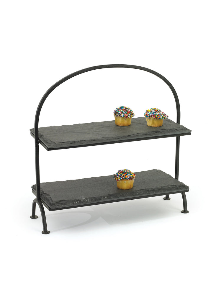 Slate Tiered Serving Stand