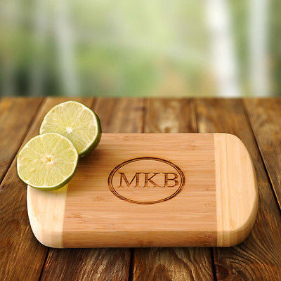 Bamboo Cutting Board with Monogram