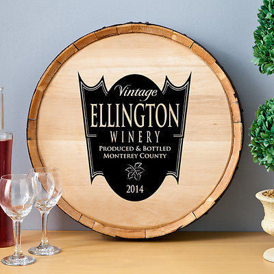 Wine Barrel Sign - Family Crest