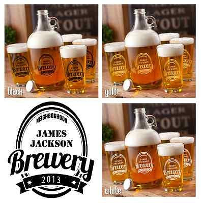 Brewery Growler Set - Personalized