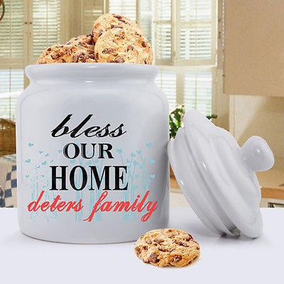 Bless Our Home Cookie Jar