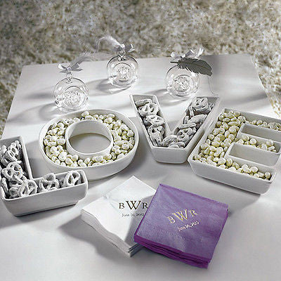 LOVE Letters Plates Set - Premier Home & Gifts
