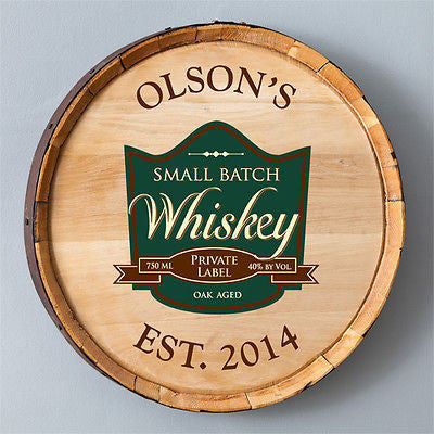 Whiskey Barrel Sign - Private Label