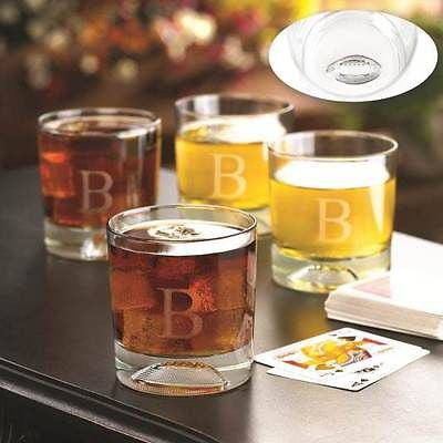 Football Molded Lowball Glass Set ~ Monogrammed