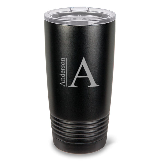 Black Matte Double Wall Insulated Tumbler