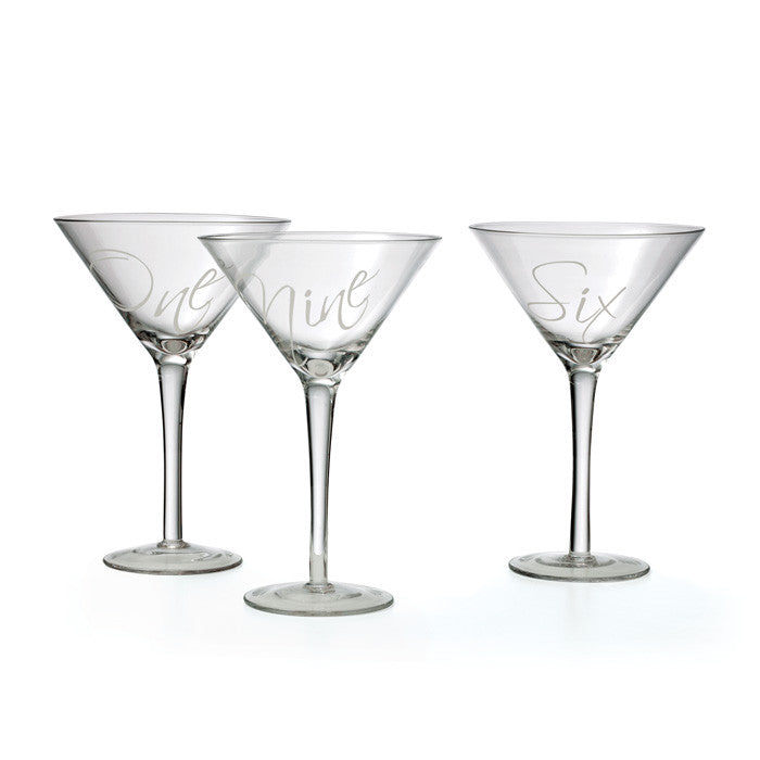 Martinez Martini Glasses ~ Set of 12
