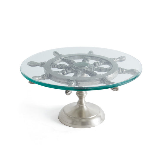 Ship's Wheel Cake Stand - Nautical Decor