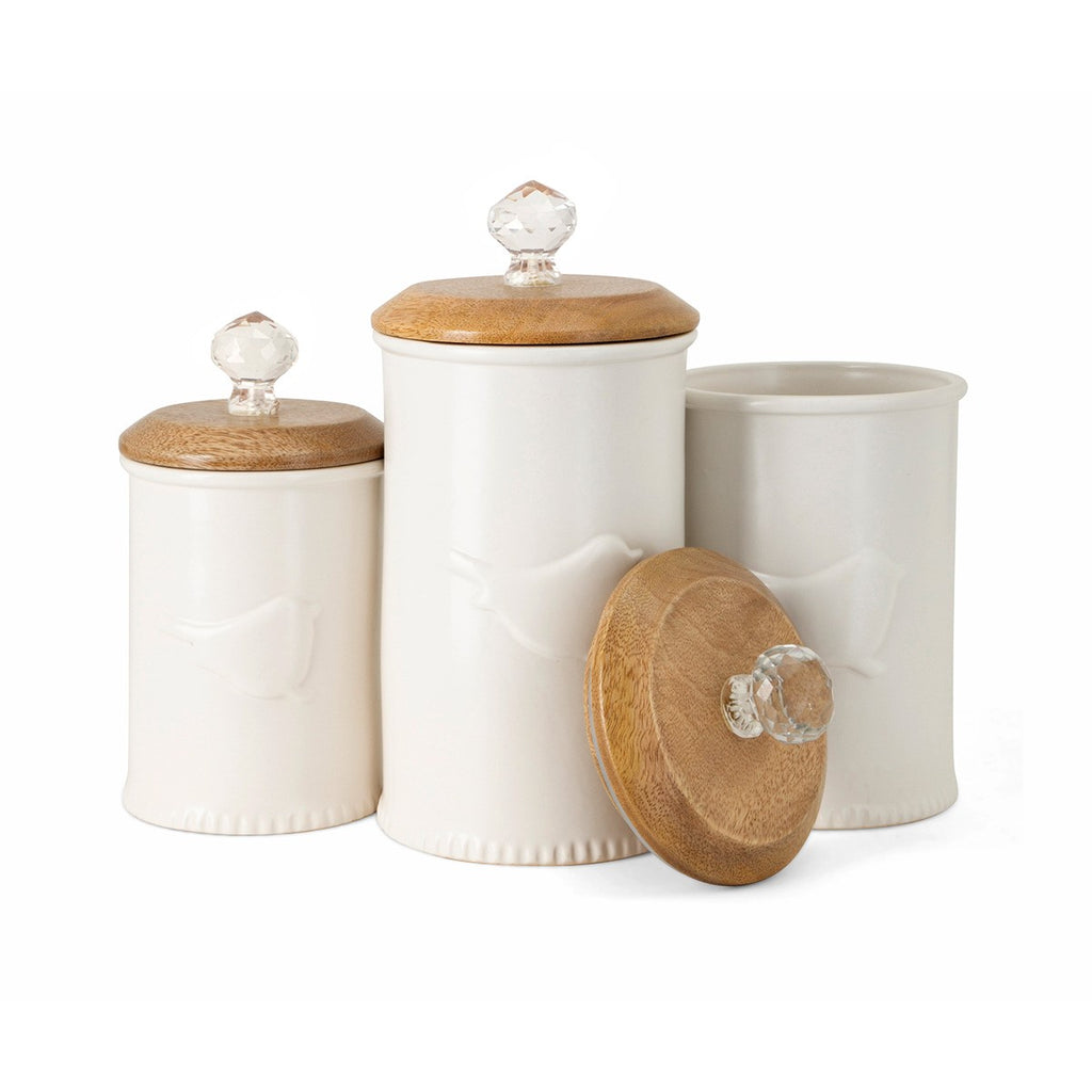 Bird Ceramic Canister Jars