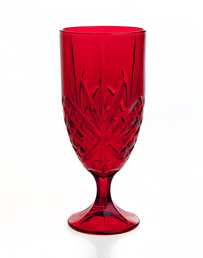 Red Crystal Beverage Glasses - Set of 4 | Premier Home & Gifts