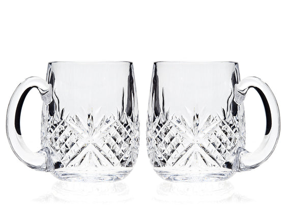 Gianna Crystal Beer Mugs - Set of 2 | Premier Home & Gifts