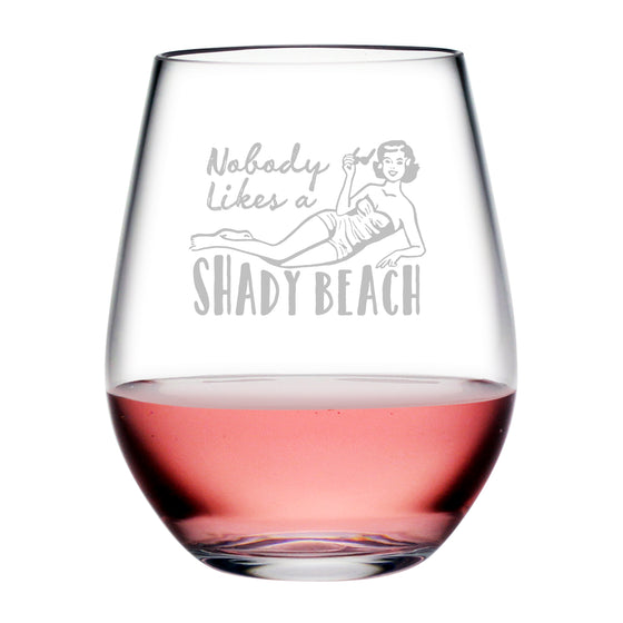 Shady Beach Tritan™ Shatterproof Stemless Tumblers - Summer Gifts