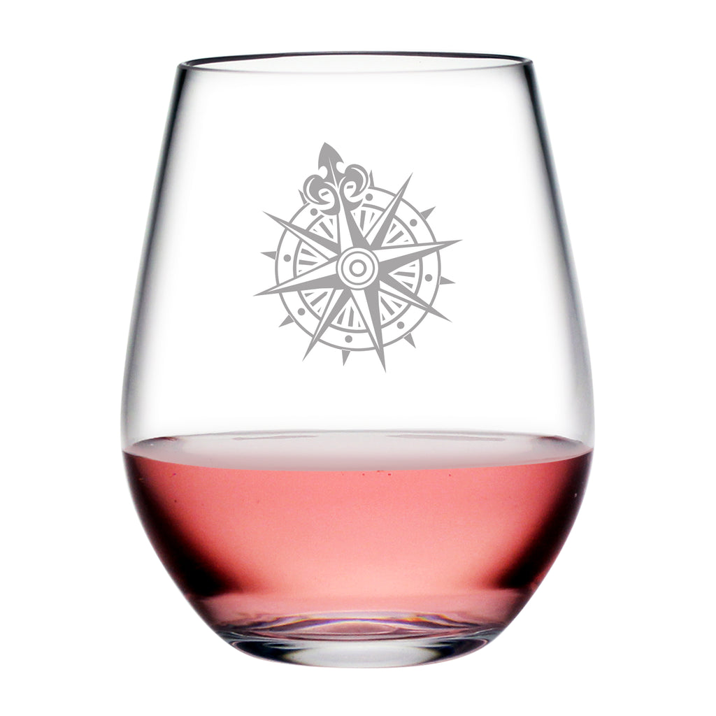 Voyager Compass Tritan™ Shatterproof Stemless Tumblers - Lake House Gifts