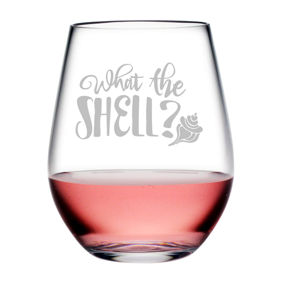 What the Shell Tritan™ Shatterproof Stemless Tumblers - Beach House Gifts