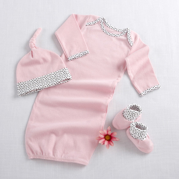 Welcome Home Baby 3-Piece Layette Set ~ Pink