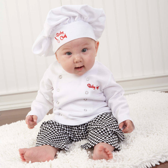 Baby Chef Three Piece Layette Set in Gift Box