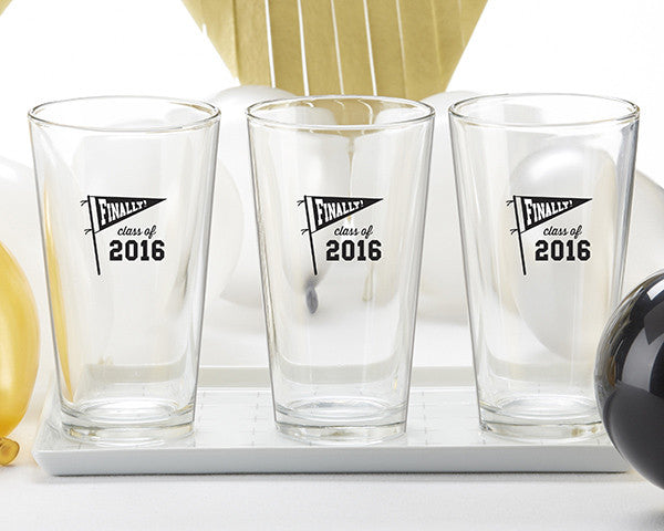Finally Graduation Pint Glasses - Set of 4 - Premier Home & Gifts